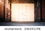 Steel Door In A Red Brick Wall...