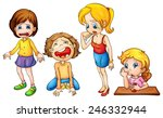 illustration of a set of girls... | Shutterstock .eps vector #246332944