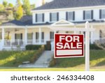home for sale real estate sign... | Shutterstock . vector #246334408