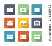 case icons   element bags and... | Shutterstock .eps vector #246335938