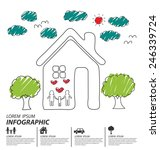 creative drawing ecology and... | Shutterstock .eps vector #246339724