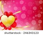 vector heart and ribbon align...   Shutterstock .eps vector #246343123