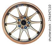 car wheel  car alloy rim on... | Shutterstock . vector #246347110