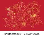 vector flower painting stripes... | Shutterstock .eps vector #246349036