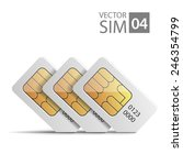 Vector Image Of Sim Cards For...