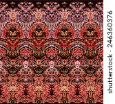 medieval tapestry pattern | Shutterstock .eps vector #246360376