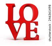 3d red love text | Shutterstock . vector #246361498