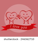 cute valentines day background | Shutterstock .eps vector #246362710