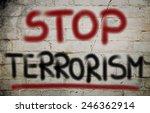no terror concept   Shutterstock . vector #246362914