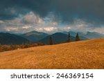 autumnal mountain cloudscape.... | Shutterstock . vector #246369154