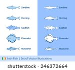 irish fish set of vector... | Shutterstock .eps vector #246372664