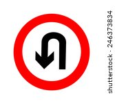 u turn road sign. icon great... | Shutterstock .eps vector #246373834