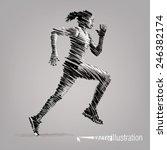 running woman. vector artwork... | Shutterstock .eps vector #246382174