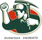 illustration of a coal miner... | Shutterstock .eps vector #246383470