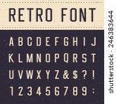 retro alphabet vector font.... | Shutterstock .eps vector #246383644