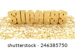 success with stars on white... | Shutterstock . vector #246385750