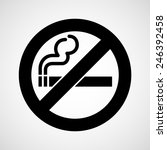 no smoke icon great for any use.... | Shutterstock .eps vector #246392458