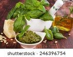 basil pesto  fresh basil leaves