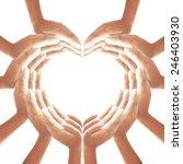 christian prayer hands in shape ...   Shutterstock . vector #246403930