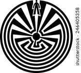 man in the maze  journey... | Shutterstock .eps vector #246405358