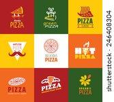 set of fast food restaurant... | Shutterstock .eps vector #246408304