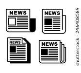 newspaper icons set on white .... | Shutterstock .eps vector #246408589