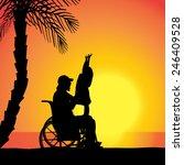 vector silhouette of family who ...   Shutterstock .eps vector #246409528