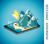 vector isometric concept of... | Shutterstock .eps vector #246411136