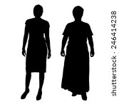 vector silhouette of a couple... | Shutterstock .eps vector #246414238