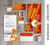 red corporate identity template ... | Shutterstock .eps vector #246414298