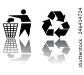 recycling icon isolated on... | Shutterstock .eps vector #246414724
