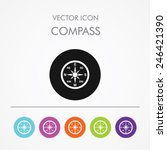 very useful icon of compass on...