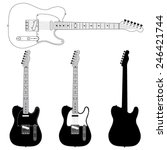 Electric Guitar Silhouettes....