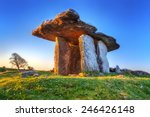 poulnabrone portal tomb in... | Shutterstock . vector #246426148