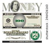 miscellaneous 100 dollar bill... | Shutterstock .eps vector #246426160