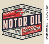 Motorcycle Oil Typography  T...