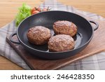 Постер, плакат: Black iron pan with