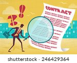 businessman uses magnifying... | Shutterstock .eps vector #246429364
