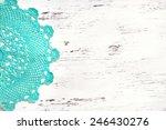 Mint Crochet Doily Border Over...