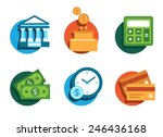 illustrated icons on the theme... | Shutterstock .eps vector #246436168