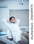 relaxed smiling female dentist... | Shutterstock . vector #246439474