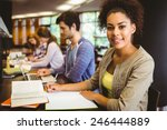 student looking at camera while ... | Shutterstock . vector #246444889