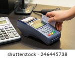credit card machine in store   Shutterstock . vector #246445738