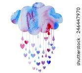 rain of hearts | Shutterstock .eps vector #246447970