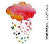 rain of hearts   Shutterstock .eps vector #246448018