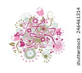 i love you floral group with... | Shutterstock .eps vector #246461314