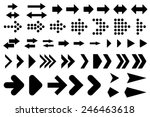 a set of silhouettes arrows... | Shutterstock .eps vector #246463618
