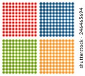 checkered tablecloth seamless... | Shutterstock .eps vector #246465694