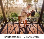 couple resting at balinese... | Shutterstock . vector #246483988
