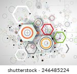 abstract vector background.... | Shutterstock .eps vector #246485224